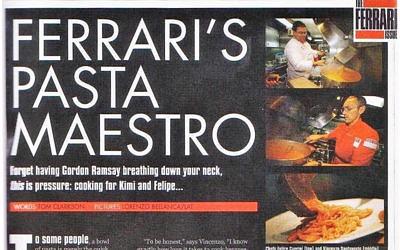Ferrari's Pasta Maestro – The Ferrari Issue September 2008