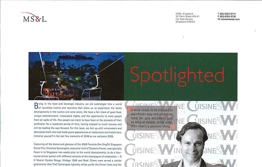 Cuisine and Wine Asia – MS&L November 2008